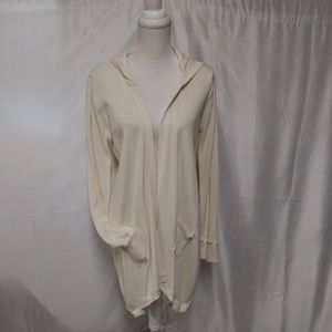 Cynthia Rowley Open Front Light Thermal Cardigan